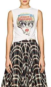 RE/DONE Women's Graphic Cotton Muscle Tee - White