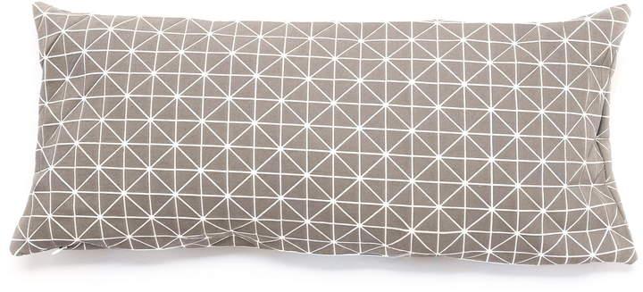 Mika Barr - Geo Origami Kissenbezug, 60 x 30 cm, Grau
