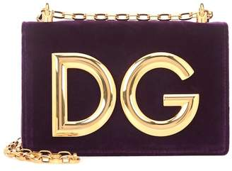 Dolce & Gabbana Girls velvet shoulder bag