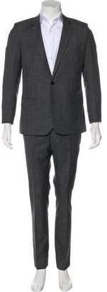 Saint Laurent Patterned Virgin Wool Suit