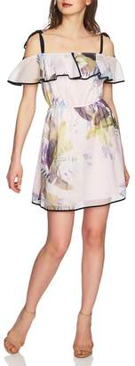 CeCe Cassie Ruffle Cold Shoulder Minidress