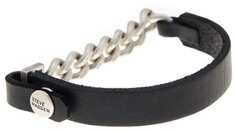 Steve Madden Chain Detail & Leather Bracelet $40 thestylecure.com