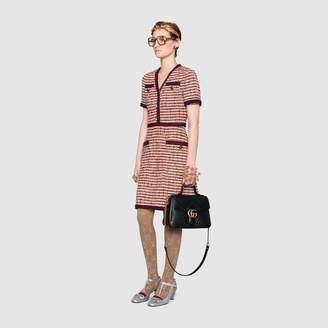 Gucci Striped tweed v-neck dress