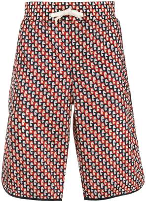 Gucci abstract print swim shorts