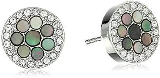 Fossil Vintage Glitz Crystal Stud Earrings