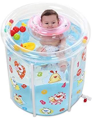 Pool' CLG-FLY Padded folding pool water-saving baby baby bath tub soaking tub round scaffolding young children paddling pool swimming barrel 73*75cm