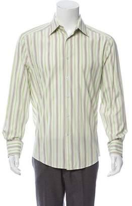 Kenzo Striped Button-Up Dress Shirt