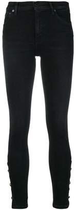 Dondup button embellished jeans