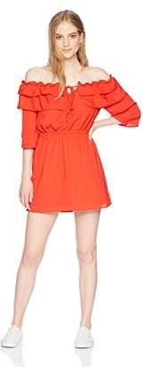 Jack by BB Dakota Women's Bowser Off The Shoulder Dress