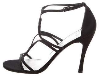 Stuart Weitzman Satin Strappy Sandals