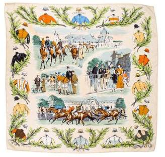 Hermes Chantilly Silk Scarf