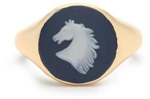 Ferian - Wedgewood Horse Signet Ring - Womens - Blue
