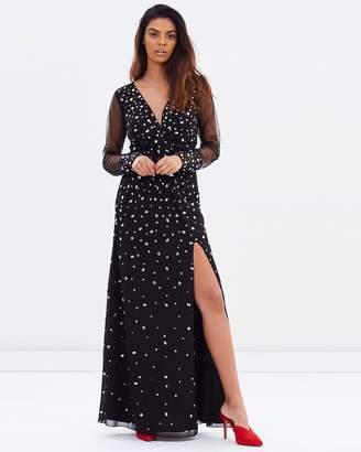 Miss Selfridge Plunge Twist Crystal Maxi Dress