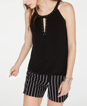 INC International Concepts I.n.c. Studded Halter Top, Created for Macy's