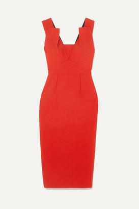 Roland Mouret Coleby Crepe Midi Dress - Red