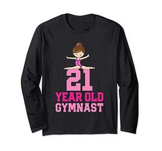 Girls Gymnastics Birthday T-Shirt 21 Year Old Gymnast Tee