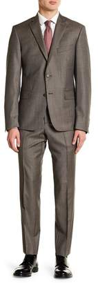 Nordstrom Rack Houndstooth Double Button Notch Collar Trim Fit Suit