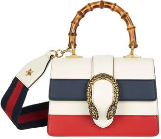 Gucci Small Striped Dionysus Bamboo Top Handle Bag