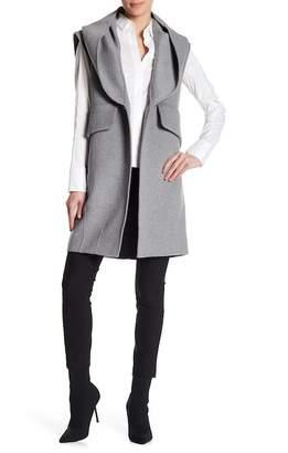 Derek Lam 10 Crosby Double Face Wool Blend Vest