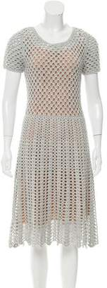 Michael Kors Open Knit Midi Dress