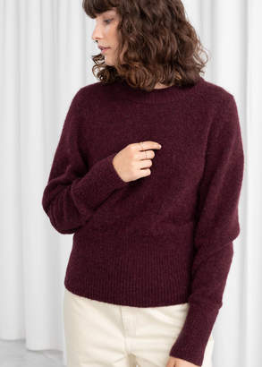 And other stories Alpaca Blend Fitted Puff Sweater