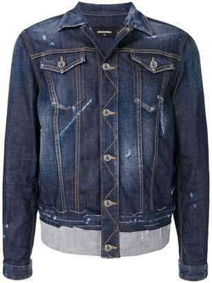 DSQUARED2 two-tone denim jacket