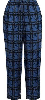 Marni Cropped Jacquard Straight-leg Pants