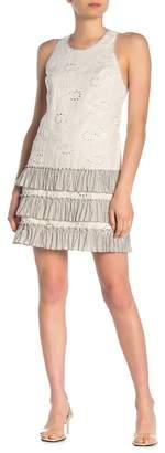 Rebecca Taylor Garden Linen Eyelet Dress