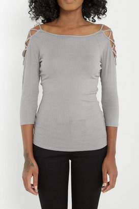 Soprano Fitted Cold Shoulder