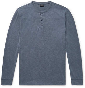 Onia Miles Puppytooth Modal-Blend Henley T-Shirt