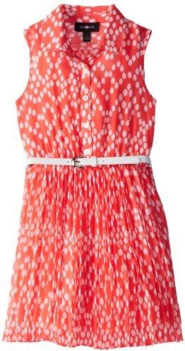 Amy Byer Big Girls' Print Dot Shirt Dress