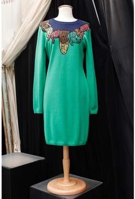 JC de CASTELBAJAC Green Wool Dresses
