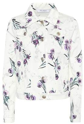 Max Mara Floral-print denim jacket