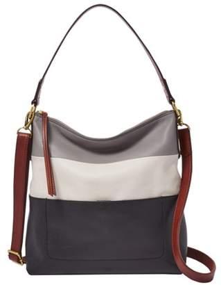 Fossil Amelia Hobo Handbags Black Multi