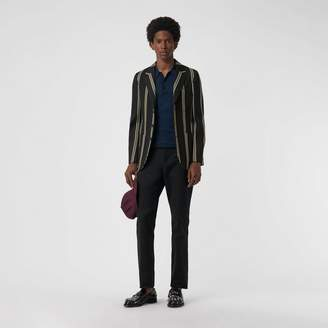 Burberry Slim fit Striped Wool Blend Club Blazer