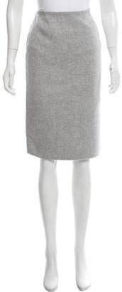 Michael Kors Wool-Blend Knee-Length Skirt
