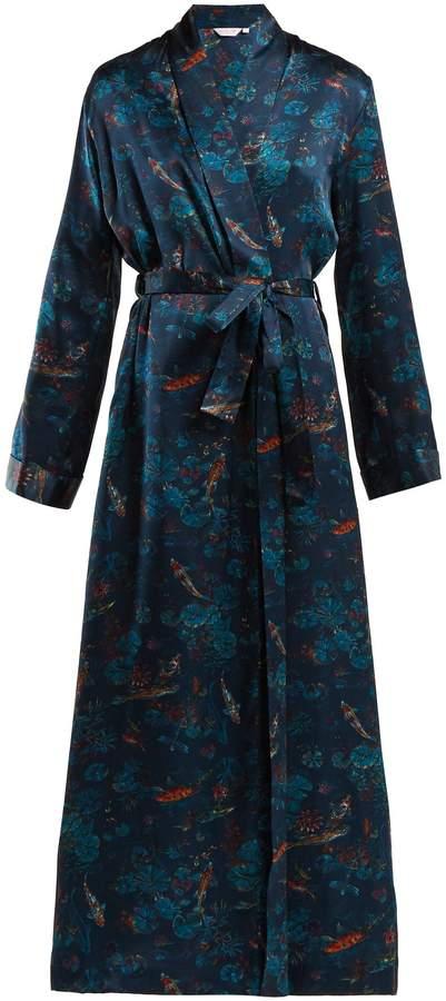 DEREK ROSE Brindisi 28 silk-satin robe
