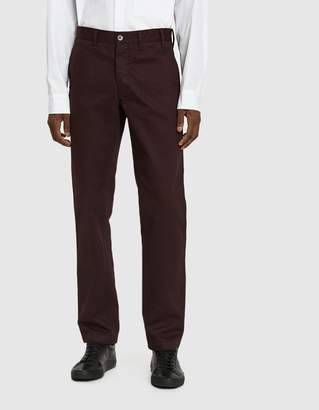 Norse Projects Aros Heavy Twill Chino Pant in Eggplant Brown