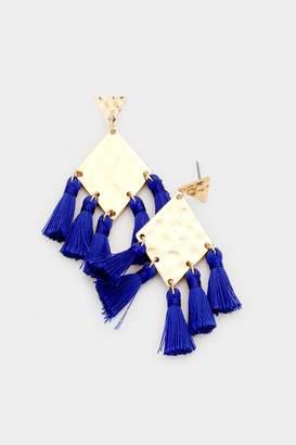 Wild Lilies Jewelry Rhombus Tassel Earrings