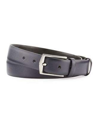 Burberry London Collection Leather Belt, Navy $295 thestylecure.com