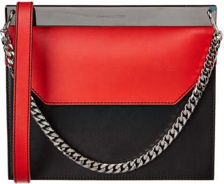 Alexander McQueen Colorblock Leather Shoulder Bag