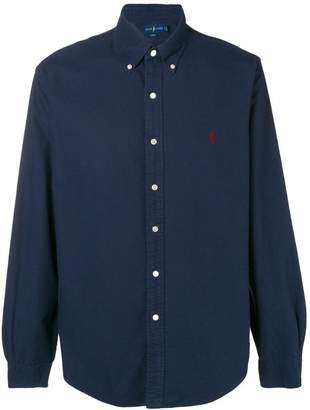 Polo Ralph Lauren logo embroidered button-down shirt