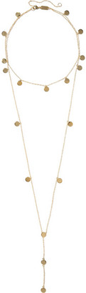 Arme De L'Amour - Layered Pendant Gold-plated Necklace - one size $285 thestylecure.com