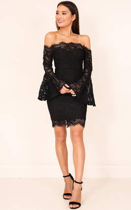 Showpo Sweet For You dress in black lace