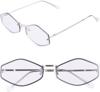 Leith 62mm Rimless Geometric Aviator Sunglasses