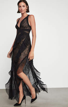 BCBGMAXAZRIA Tulle Lace Gown