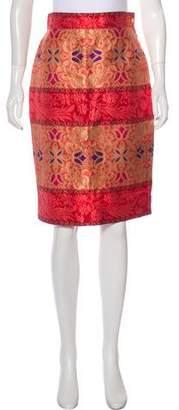 Christian Lacroix Brocade Knee-Length Skirt
