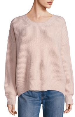 Vince Rib-Knit Hi-Lo Sweater $385 thestylecure.com