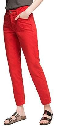 Esprit edc by Women's 056CC1B017-verkürzt Trousers, (Light Blue), 36W x 34L