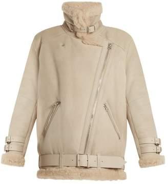 Acne Studios Velocite Oversized Shearling Jacket - Womens - Cream